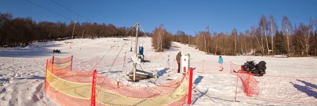 Sjezdovka, dětský vlek, lyžařská škola